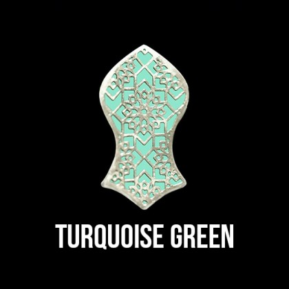 Press Pin Turquoise Green