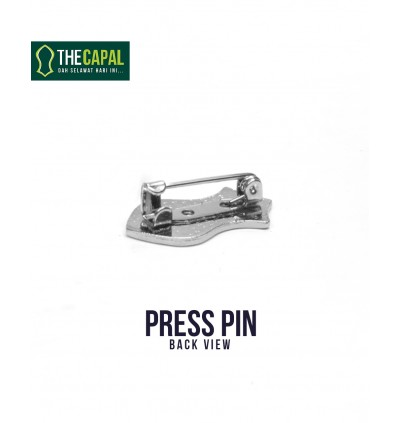 Press Pin Turquoise Blue