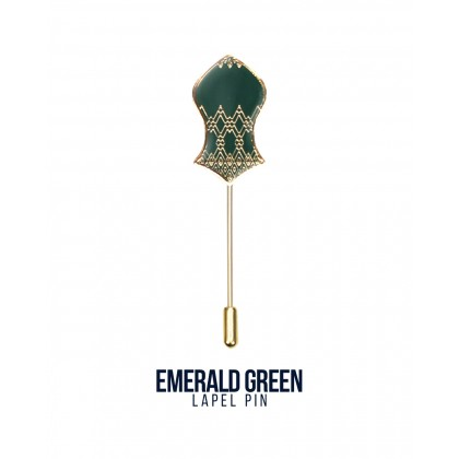 Lapel Pin Emerald Green