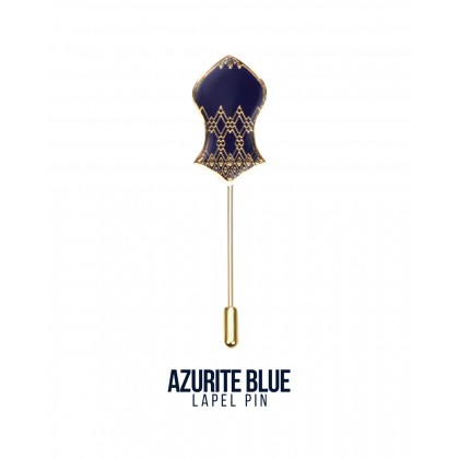 Lapel Pin Azurite Blue