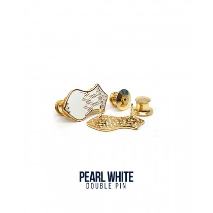 Double Pin Pearl White