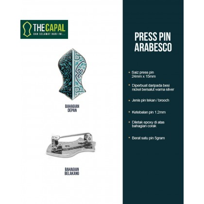 Press Pin Arabesco