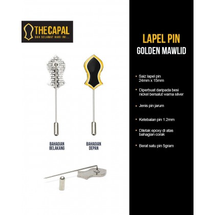 Lapel Pin Golden Mawlid