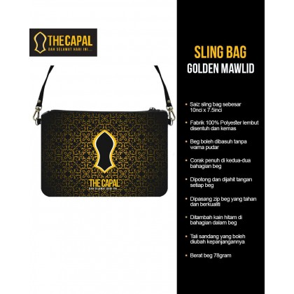 Sling Bag Golden Mawlid