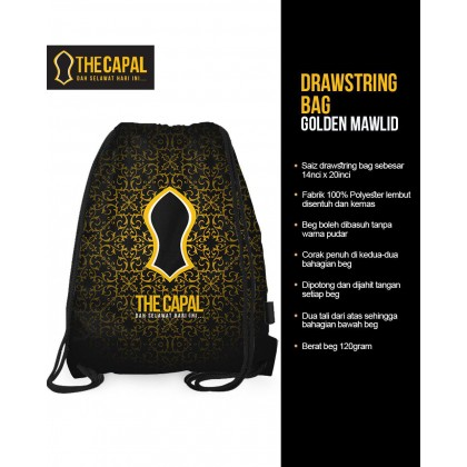 Drawstring Bag Golden Mawlid