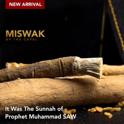 Miswak 3 Boxes (36pcs) + Free 1pc Miswak Holder (Genuine Leather)