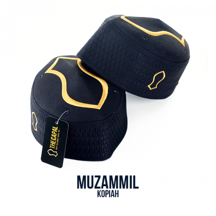 Kopiah Muzammil The Capal [Black Gold]